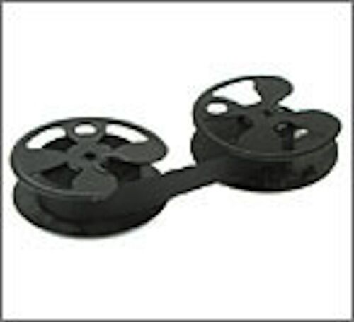 "VINTAGE 2-3/8"" ROYAL TYPEWRITER METAL SPOOLS WITH NEW BLACK RIBBON TO RE-SPOOL"