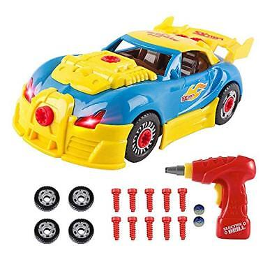 Toys for 3 year olds Boys  4 year old Boy Gifts,CrossRace Take Apart Toy Car Ra (Gifts For 4 Year Olds)