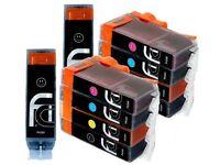14 Canon Pixma PGI-550 XL CLI-551 XL FCI Printer Ink Cartridges for ip7250, iX68