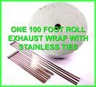 White Exhaust Wrap