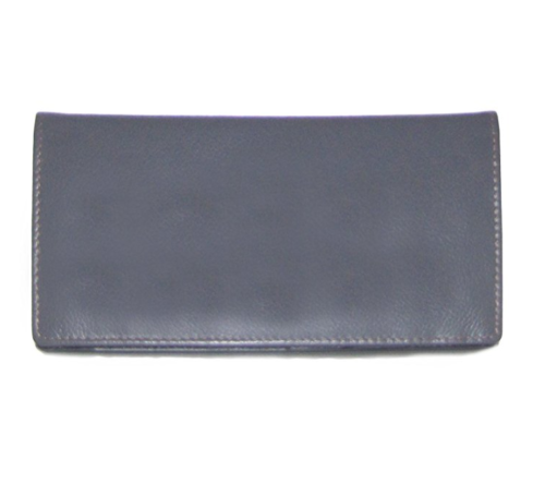 ILI Genuine Leather Checkbook Cover with RFB Card Slots and Pen Loop Toffee