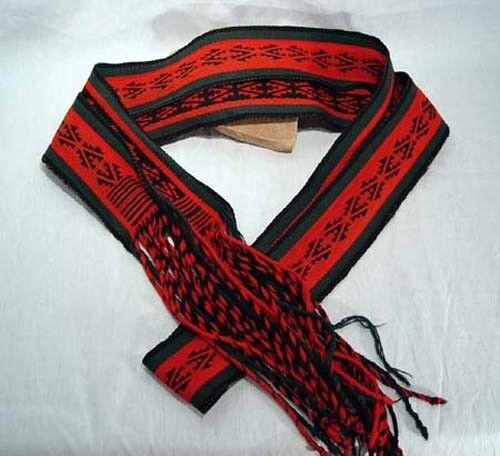 """Antique Navajo Finger Woven Ceremonial Dance Sash c1940 Mint condition 111"""" x 3"""""""