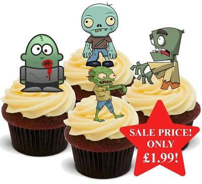 Halloween Zombie Mix Stand Up Premium Card Cake Toppers](Halloween Mix Up)