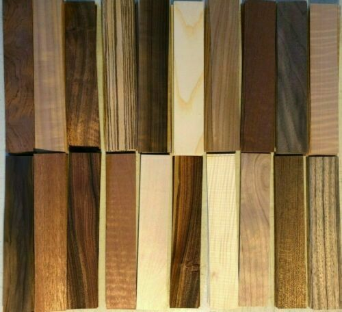 "Fingerboard Wood Veneer 1-1/2"" x 8"" 180 pieces Amazing Variety pack Marquetry"