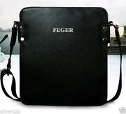 Leather Men Black Fashion Messenger Bag