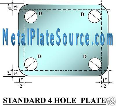 Structural Steel Base Plate 34 X 8 X 12 W Holes Package Of 4 Pieces