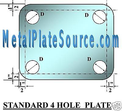 Steel Base Plate 34 X 12 X 12 W4 Custom Holes Pack Of 4