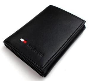 890277981fcc5 Tommy Hilfiger Black Leather Wallets