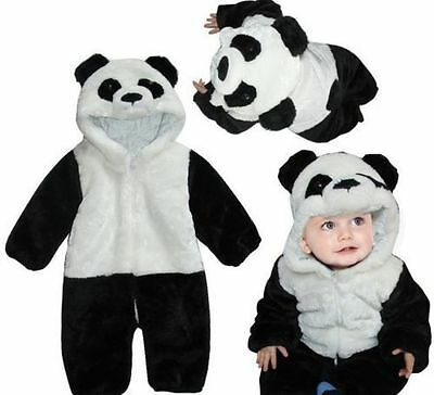 Hot Unisex Toddler Baby Panda Bear Pajamas Cosplay Costume Animal Sleepwear Suit - Panda Bear Costume Toddler