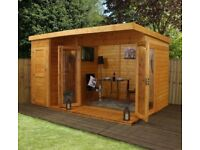 12x8 - Premium Garden room with side shed - FREE DELIVERY