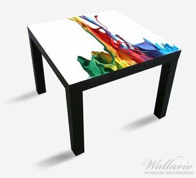 Wallario Aufkleber für Ikea Lack Tisch 55x55cm Farbklecks links - Bunte Farben gebraucht kaufen  Cottbus