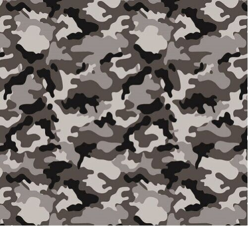 HYDROGRAPHIC FILM WATER TRANSFER HYDRODIPPING HYDRO DIP ARMY CAMO GREY 1M