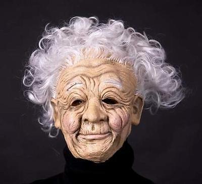 Maske - Oma mit Haar / Großmutter, Omi, Hexe, Alte Frau / Karneval, Halloween