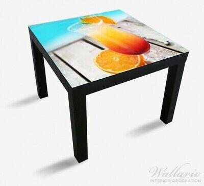Wallario Glasplatte für Ikea Lack Tisch, 55x55 cm, Motiv: Bunter Cocktail Pool ()