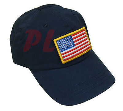 Special Force Tactical Cap Hat Removable American Us Flag - Navy Blue