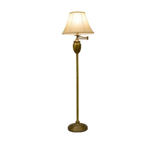 Rv Astley Malone Antique Brass Finish Swing Arm Floor Lamp For Sale Ebay