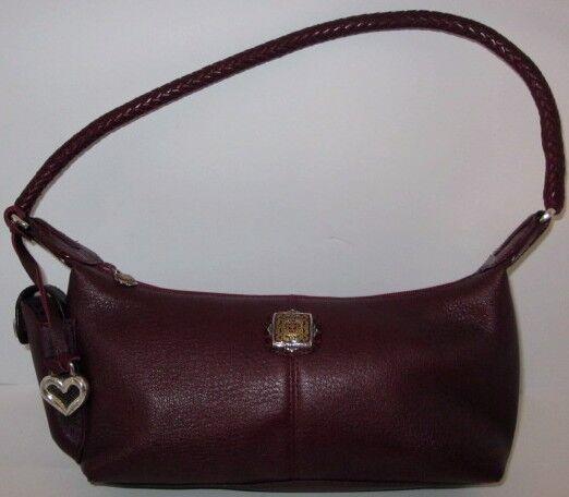 Vintage Small Burgundy Brighton Pebble Leather Handbag Shoulder Bag