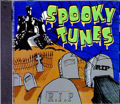 SPOOKY TUNES: HALLOWEEN PARTY SONGS & SOUNDS with ELVIRA & MORE (1995, CD) RHINO](Elvira Halloween Songs)