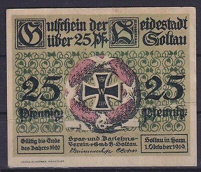 Notgeld Soltau 25 Pfennig 1919