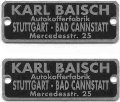 Karl Baisch  M Benz 300Sl  300Sc  Adenauer 220 Cab A  190Sl Luggage Labels   2