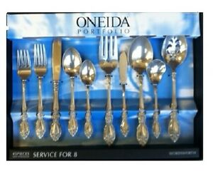 Oneida Wordsworth or Quanta 45 Piece Service for 8 Stainless Flatware