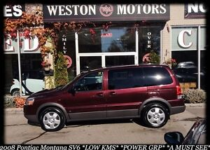 2008 Pontiac Montana Sv6*LOW KMS*IN-HOUSE FINANCING AVAILABLE!!