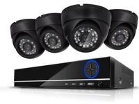 CCTV 720P kit 4CH DVR +1TB HDD 4X Dome Cameras Intdoor HD Quality Night Vision
