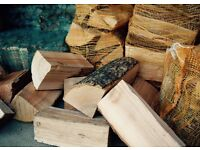 Kiln-dried ash logs/firewood (net bags) to burn in stoves etc or use as decorative logs/stacks £5.50