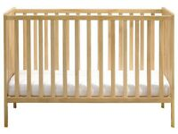 Mothercare Cot and Sprung Mattress
