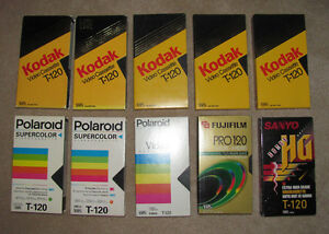 12 blank vhs tapes in excellent condition