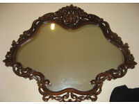 Hand Carved Wood Mirror furniture