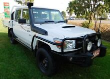 2013 Toyota Landcruiser VDJ79R MY13 Workmate Double Cab White 5 Speed Manual Cab Chassis Hidden Valley Darwin City Preview