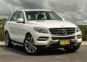 2013 Mercedes-Benz M-Class W166 ML400 7G-Tronic + White 7 Speed Sports Automatic Wagon Somersby Gosford Area Preview