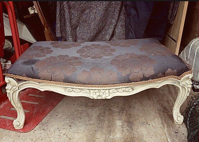 Stunning ornate large statement piece stool