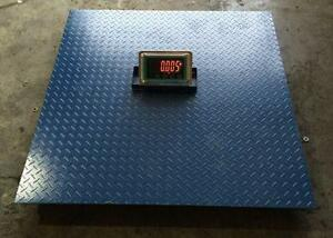 NEW 4X4 FLOOR SCALE 10,000 LBS WIRELESS PALLET SHIPPING DIGITIAL