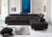 2PC BONDED LEATHER MODERN SECTIONAL $1098