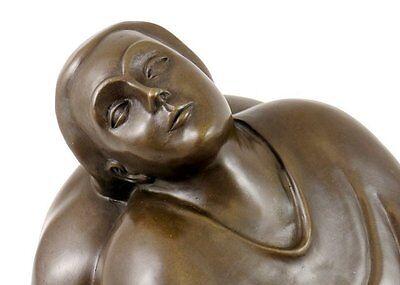 Bronze Bar (Moderne Bronzefigur - Träumendes Weib - 1912 signiert Ernst Barlach)