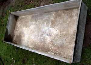 old sap boiling pan 18 ft X 21 1/2 in X 8in. Also some spiles London Ontario image 2