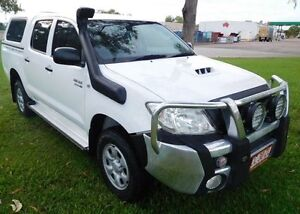 2009 Toyota Hilux KUN26R MY10 SR White 4 Speed Automatic Utility Hidden Valley Darwin City Preview