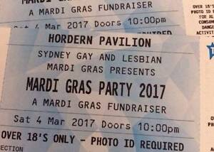 2 x DISCOUNTED OFFICIAL SYDNEY MARDI GRAS '17 AFTER PARTY TICKETS Glebe Inner Sydney Preview