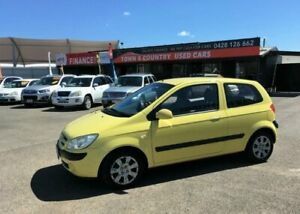 2006 Hyundai Getz TB MY06 Yellow Manual Hatchback Garbutt Townsville City Preview