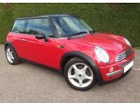 Lovely Low Mileage Mini Cooper 1.6, 3 Door in Gorgeous Colour Combination