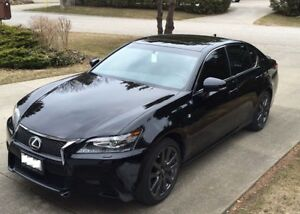 2013 Lexus GS 350 F-Sport Sedan - Black on Black - Full Warrenty