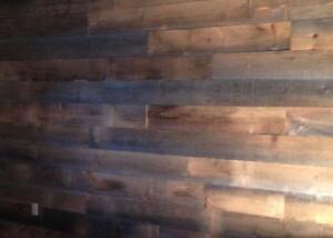 bois de grange (bois grisonnant vielli par le soleil)