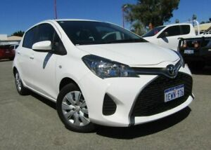 2015 Toyota Yaris NCP130R Ascent White 4 Speed Automatic Hatchback Bellevue Swan Area Preview