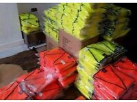 High quality hi-viz vests. Orange and yellow