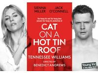 Two Tickets to Cat on a Hot Tin Roof (Sienna Miller/Jack O'Connell)