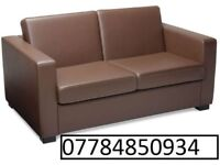 2 seater leather sofa brown brand new