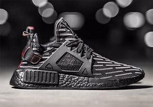 Adidas-NMD-XR1-PK-R2-Triple-Black-Boost-US-SZ-8-13-Men-039-s-BA7214-350-V2-red-ub