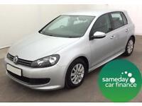 £144.36 PER MONTH SILVER 2011 VW GOLF 1.6 BLUEMOTION 5 DOOR DIESEL MANUAL